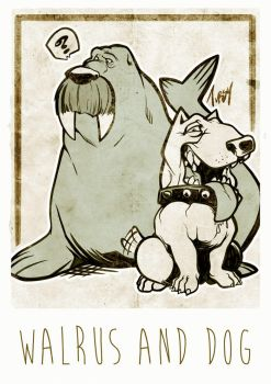 Walrus and Dog by Tursy