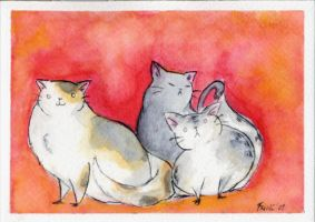 Fat Cats by FernandaFrick