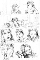 Peter Parker penciled practice pages page four by tomographiser
