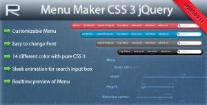 Menu Maker CSS3 jQuery by GrapicRiver