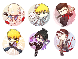 OPM chibis by silverteahouse