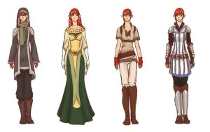 Kallian Outfit Concepts by Seroph