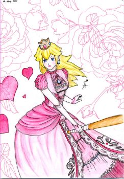 Princess Peach by snow-in-my-shoes
