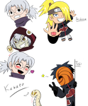 Chibi Naruto characters sketch dump by The-Angel-Deoden