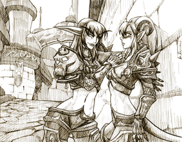 WoW: Sweet Memories uncolored by ryumo