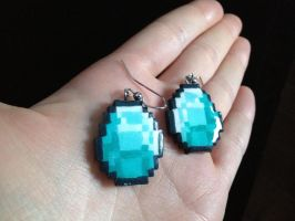 Diamond Earrings by Gatobob