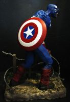 captain america painted side by mycsculptures