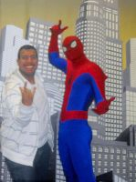Me with Spiderman by TheWizardofOzzy
