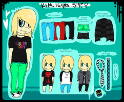 Kim Persona Reference Sheet by Sliced-Penguin