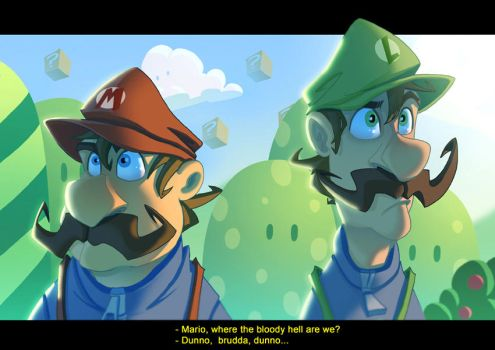 Super Mario: Lost plumbers by Javas