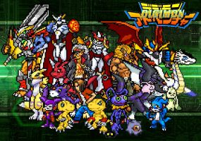 Digimon sprites by rockleon