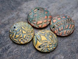 Polymer clay jewelry components by earthexpressions