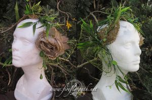 Absinthe Fairy Headdress by Lillyxandra