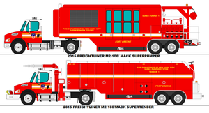 FDNY Super Pumper and Tender (Modern) by scfdunit1