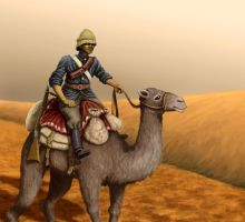 Camel Corps trooper by U-Joe