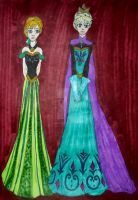 Royal Sisters of Arendelle by InkArtWriter