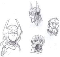 JL: Gods and Monsters sketches by ConstantM0tion