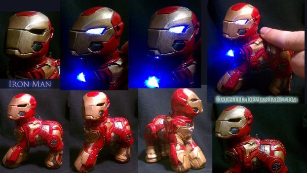 Iron Man Custom My little Pony by daunted