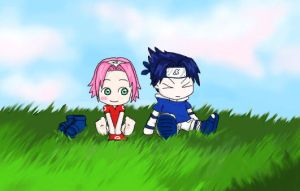 it's sasuke :3..and sakura... by bommie