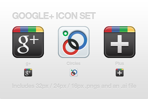 Google+ Icon Set by CreativeKaizen