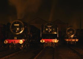 70013, 71000 and 30777 by matt-durkan-railways