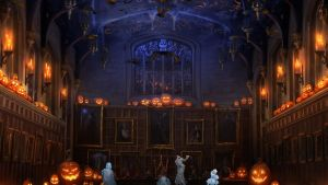 Pottermore Background: Halloween in the Great Hall by xxtayce