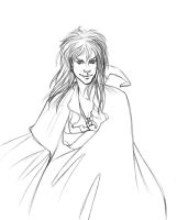 Jareth lineart by FrogMouthKid