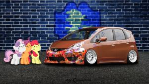 STANCEQUESTRIA  Cutie Mark Crusaders Honda Fit by NSDrift