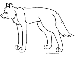Free MS Paint Wolf Lineart by Twine-Adopts