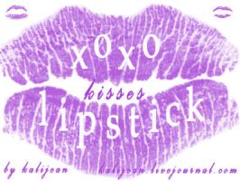 XOXO: Lipstick Kisses by kalijean