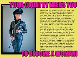 You Country Needs You to Become a Woman - 1 by p-l-richards