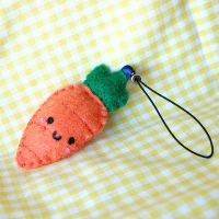 Tiny Carrot Plush Keychain by HezaChan