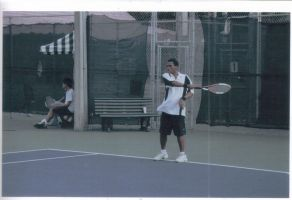 ME Playin TEnnis by Courvousier