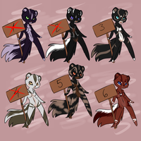 Skunks Adoption ONE LEFT by CelesticAdopts