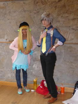 Otafest 2016 Ludger and Elle posing by Ixenkothar