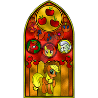 Applejack Stained Glass Window by Earthstar01