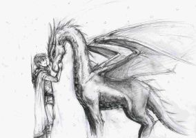 Eragon and Saphira by lorellashray