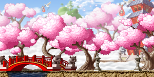 [MapleStory Background] Out in the Peach Farm by bboki