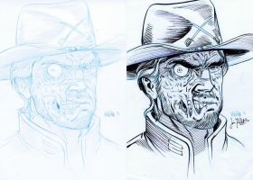 Jonah Hex sketch and inks by BloodySamoan