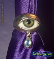 Crying Eyeball Ring by Citruquinz