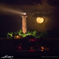 Moon-Rise-Thanksgiving-Day-Jupiter-Lighthouse- by CaptainKimo
