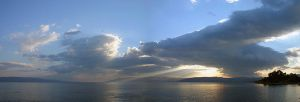 Galilee Sea - Sunrays - Israel by Delusionist