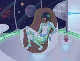 Space Lounge by kindnessisacardgame
