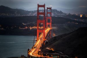 Golden Gate, two towers by alierturk