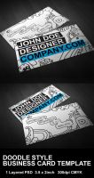 Doodle Style BCard Template by ryujin2490