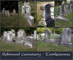 Oakwood Tombstones by fetishfaerie-stock
