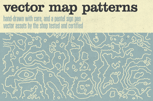 Hand-drawn vector map patterns by simonh4