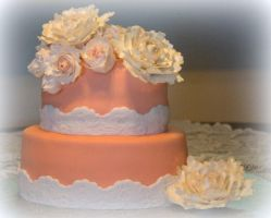 Peony Birthday Cake by lenslady
