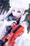Winter Elf With Violin by ann-emerald