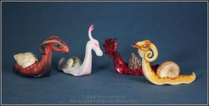 Dragon Snail posse by EirewolfCreations